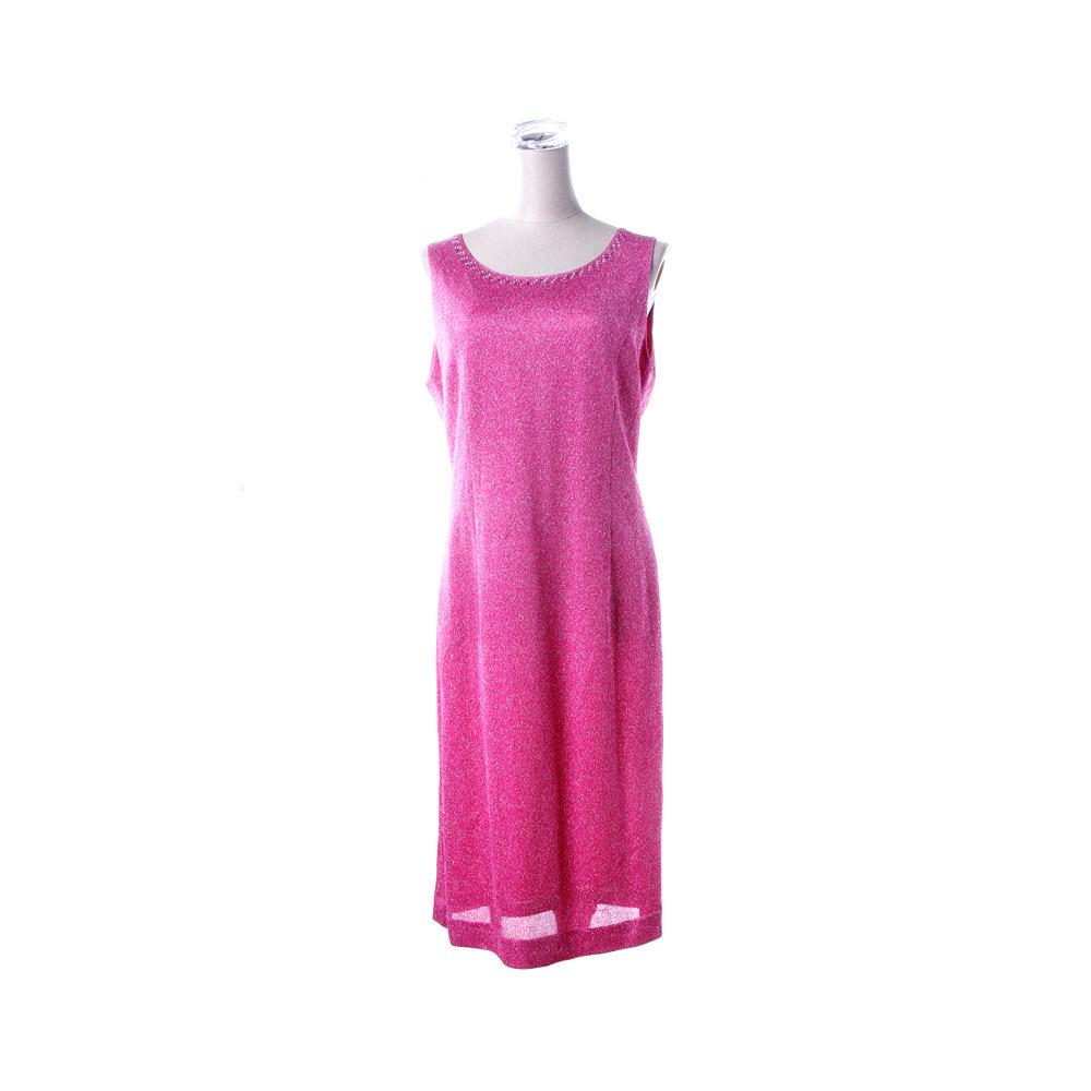 皮尔卡丹女款无袖炫彩连衣裙