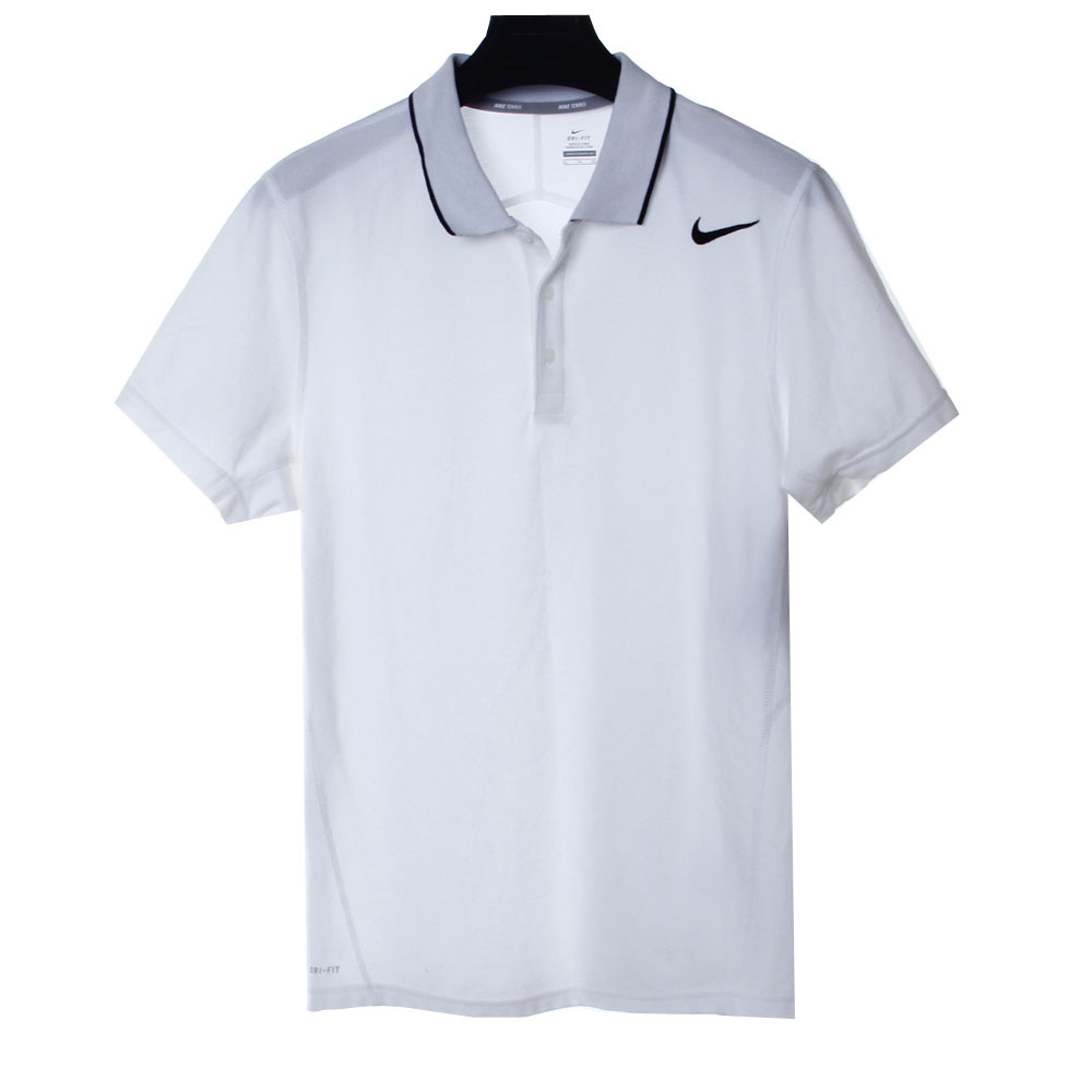 nike男款纯色休闲短袖polo衫
