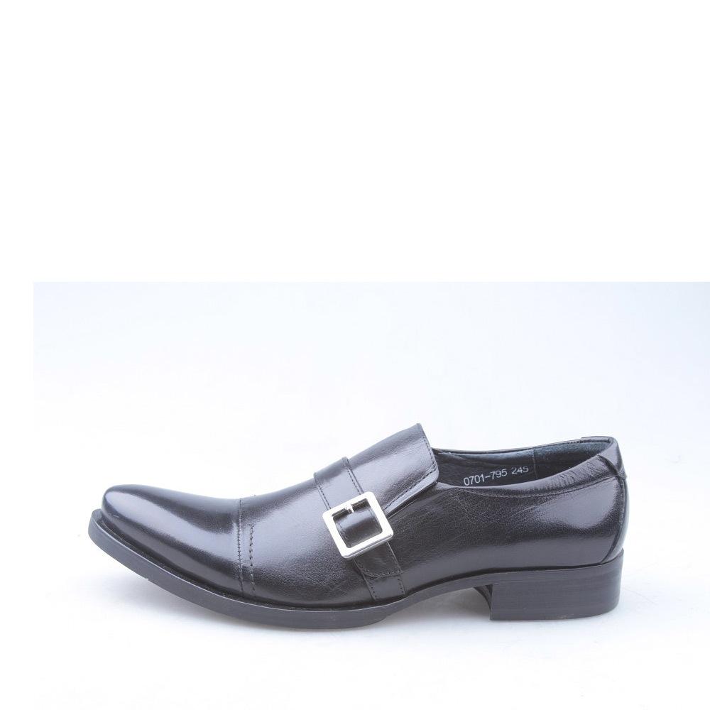 s&m男款时尚搭扣配饰尖头套脚商务皮鞋