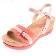 骆驼女款简约坡跟凉鞋