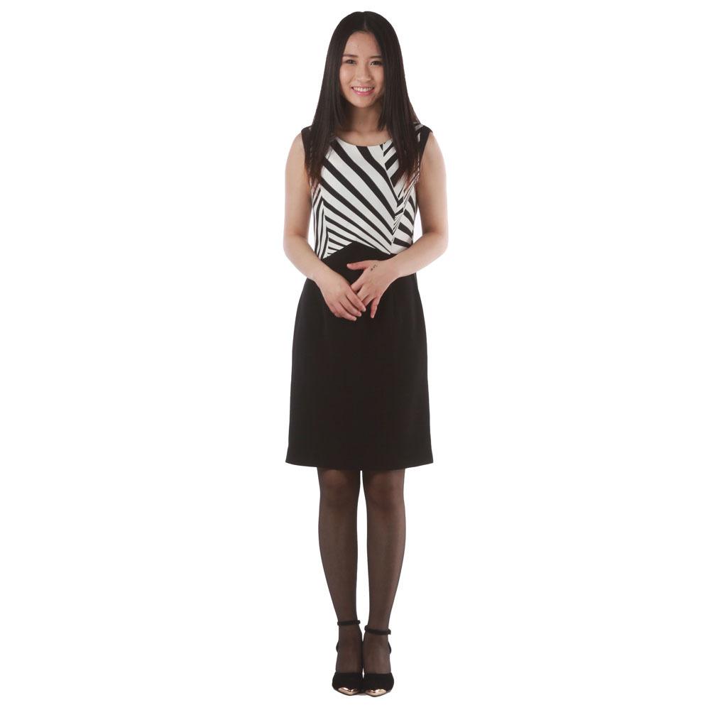 皮尔卡丹女款条纹连衣裙