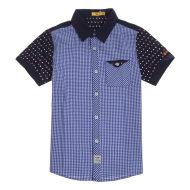 特步儿童衬衫春夏短袖衬衫685225250106