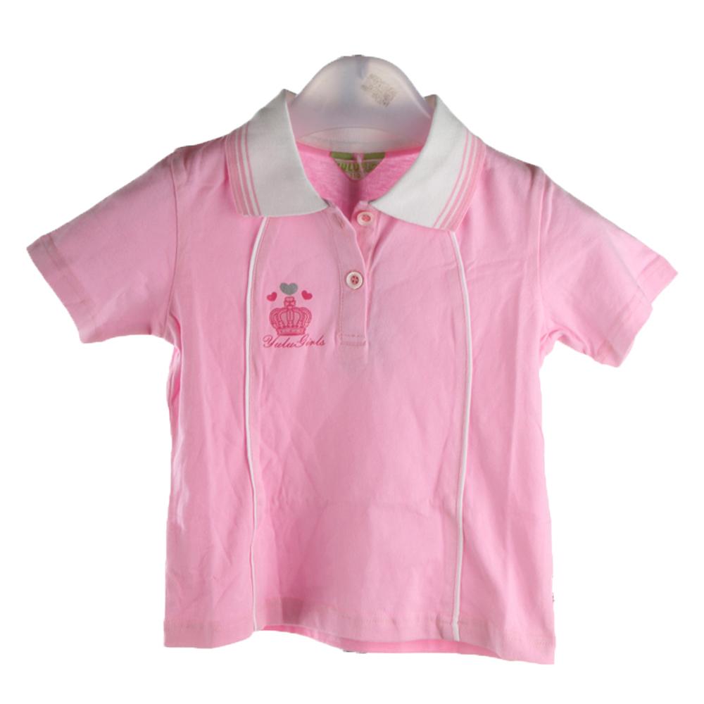 昱璐儿童纯棉粉色针织t恤衫