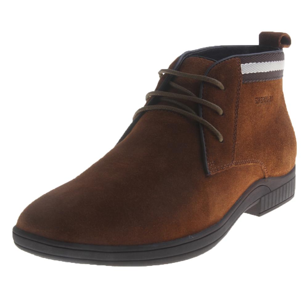 喜来登xilaideng男款时尚舒适系带短靴