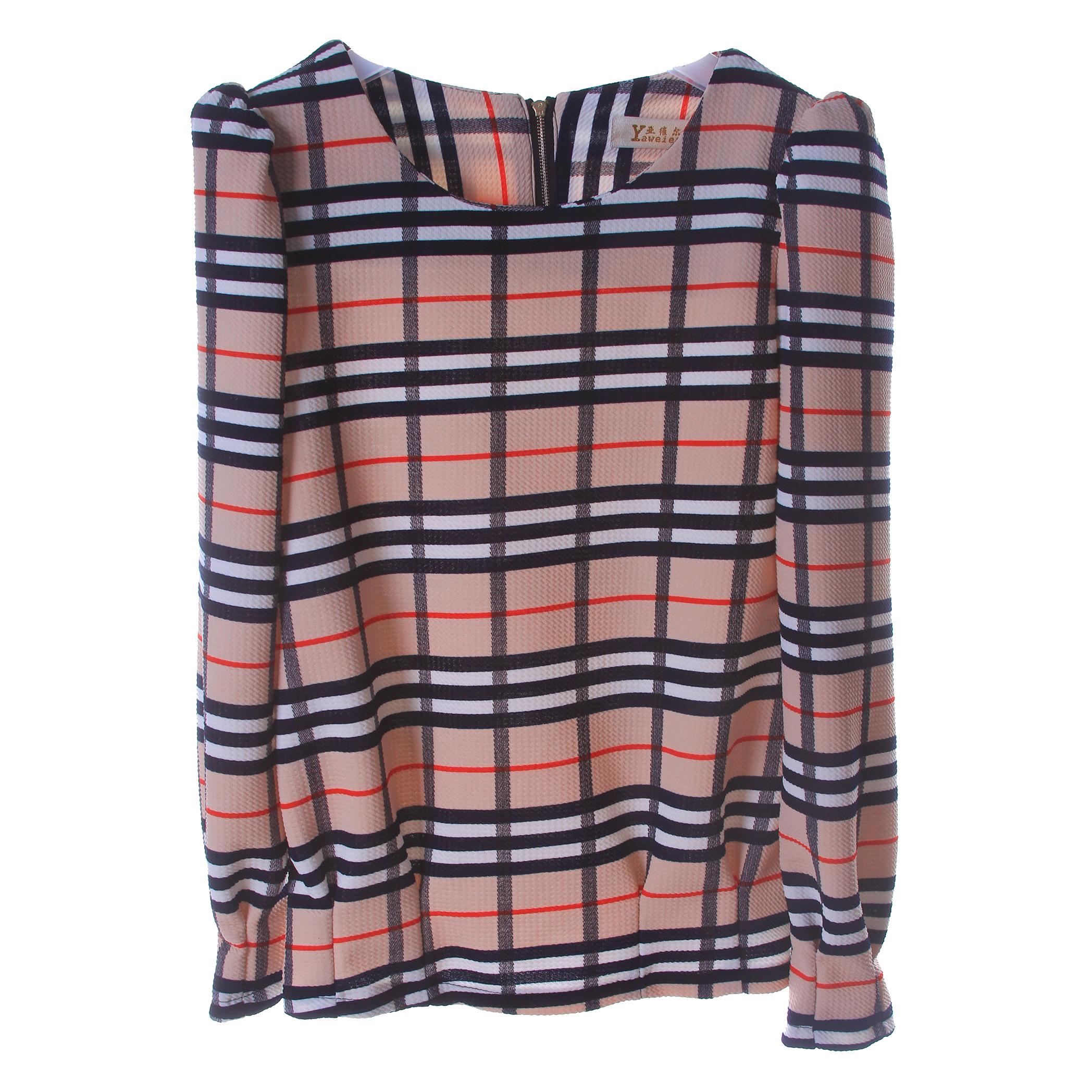 亚维尔娜女款格子时尚小衫