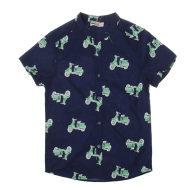 米拉熊衬衫春夏短袖衬衫0725073