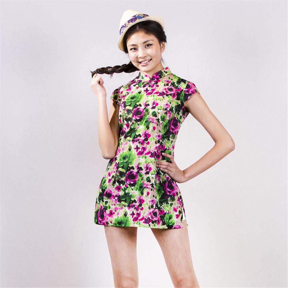 a-you fashion since1996阿尤女式彩色旗袍