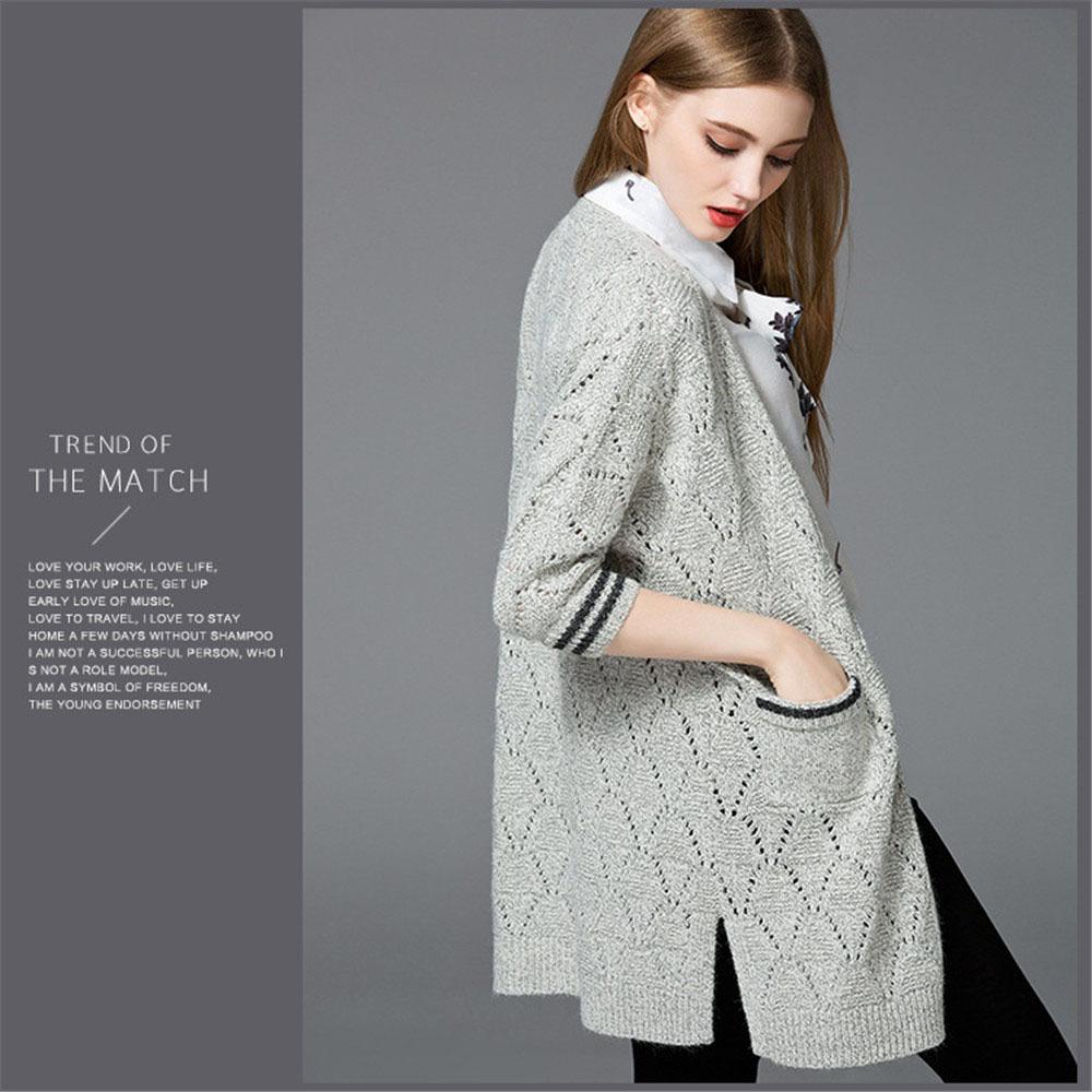 【包邮】fagire法茄罗时尚气质镂空针织开衫