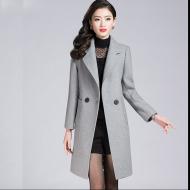 纤纯伊冬装中长款长袖毛呢大衣