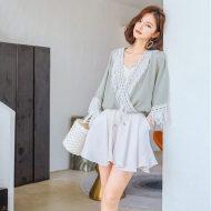 FAGIRE法茄罗2018年夏季新款雪纺衫女(单件包邮) 雪纺/蕾丝衫 SP1002