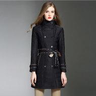MISS LISA英伦风宽松加大码中长款棉衣女外套 2019款 棉服 BDL18611