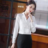 MISSLISA小众衬衫新款韩版长袖气质修身职业衬衣EH910衬衫