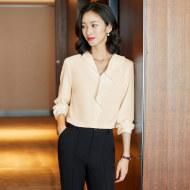 MISSLISA衬衫气质修身显瘦洋气百搭长袖衬衣OL女装EK660衬衫