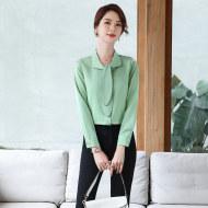 MISSLISA打底衬衣女装精致内搭蝴蝶结设计感职业衬衫EM803衬衫