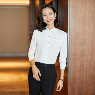 MISSLISA长袖衬衫女装时尚小众OL气质修身显瘦工作服衬衣EK661衬衫