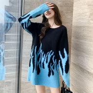 MISSLISA森系毛衣秋冬新款韩版圆领宽松小个子长袖针织连衣裙C311