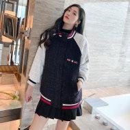 MISSLISA小香风棒球服女外套韩版新款百搭宽松时尚立领开衫夹克A259