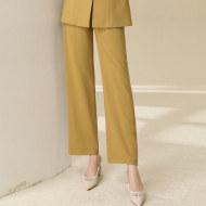 MISSLISA女装气质名媛直筒高腰显瘦百搭纯色长裤西裤90180